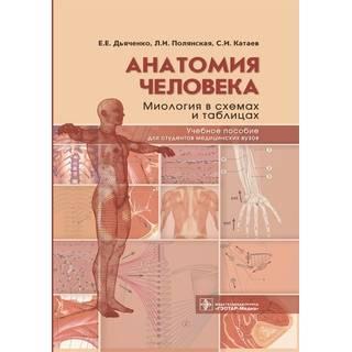 Анатомия человека: миология в схемах и таблицах : учебное пособие Е. Е. Дьяченко, Л. И. Полянская, С. И. Катаев 2021 (Гэотар)